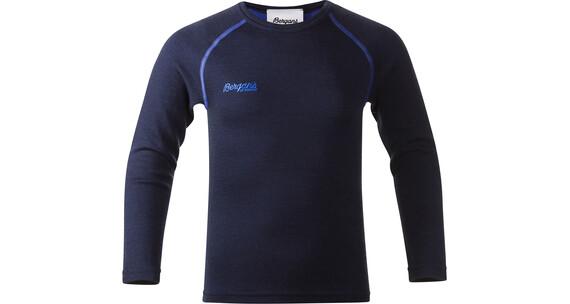 Bergans Akeleie Youth Shirt Navy/Warm Cobalt